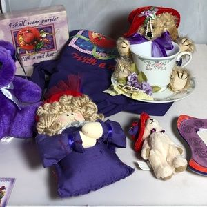 Red Hat Society Gift Set Assorted Plush Teacup etc